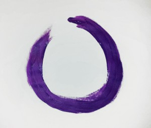 Lilafarbener Zen Kreis